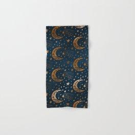 Rose Gold Moon & Star Pattern   Hand & Bath Towel