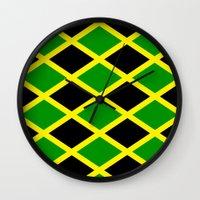 jamaica Wall Clocks featuring Jamaica Jamaica Jamaica by cleopetradesign.com