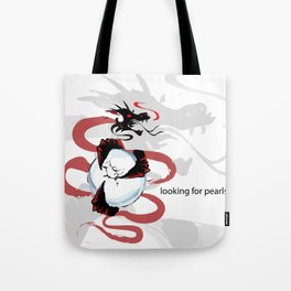"""""""The dragon searches pearls"""" Tote Bag"""