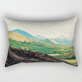 Denali Mountains Rectangular Pillow