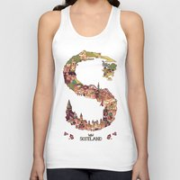 scotland Tank Tops featuring S is for Scotland by Kelly Chilton