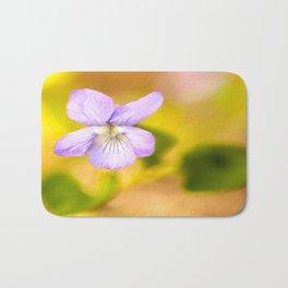 Wildflower Pansy Summer Blossom #decor #society6 #buyart Bath Mat