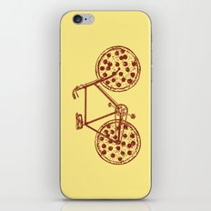 Bicycle with Pepperoni Pizza Tires iPhone & iPod Skin