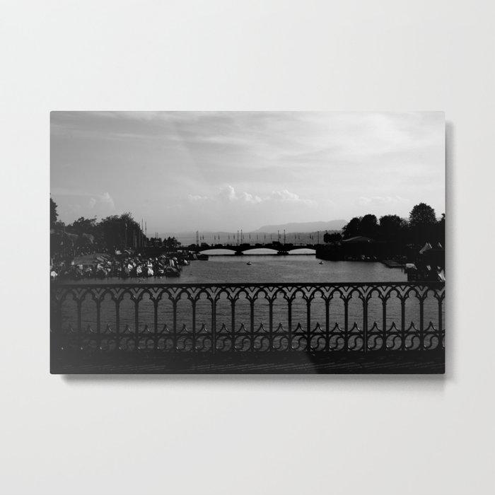 black and white landscape III Metal Print