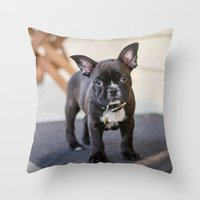 frog Throw Pillows featuring Frog by Carol Knudsen Photographic Artist