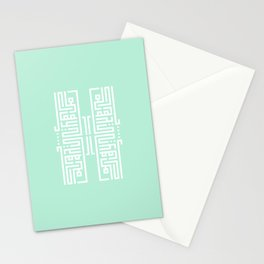 Arabic Square Kufi (ادلع ياكايدهم) Stationery Cards