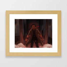 angry dragon boy Framed Art Print