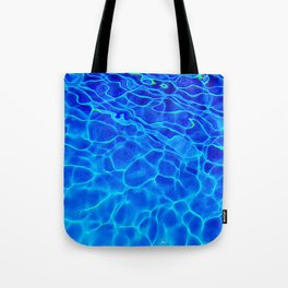 Blue Water Abstract Tote Bag
