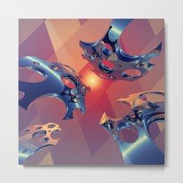 Reflections of Light Flight Metal Print