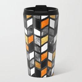 Fall Herringbone Travel Mug