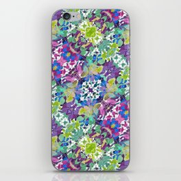 Colorful Modern Floral Print iPhone Skin