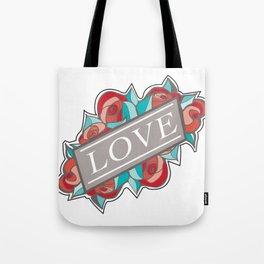 Love & Roses Tote Bag