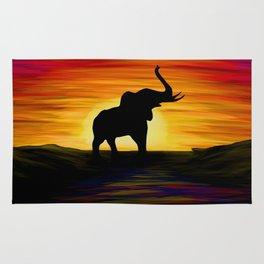 Elephant Sunset Rug