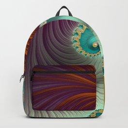 Marmalade Swirl - Fractal Art  Backpack
