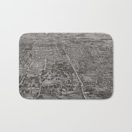 Vintage Pictorial Map of Manchester CT (1914) Bath Mat
