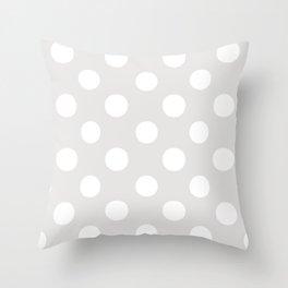 Polka Dots (White/Platinum) Throw Pillow