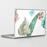 leah flores Laptop & iPad Skins featuring flores by Lua Fraga