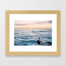 Looking out at La Jolla Shores Fine Art Print Framed Art Print