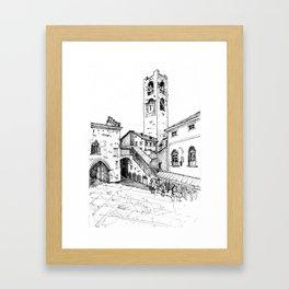 Old Square, Bergamo Framed Art Print