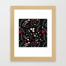mistletoe black Framed Art Print