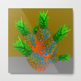 ABSTRACT TROPICAL PINEAPPLES  ART DESIGN Metal Print