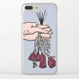 d e a d f l o w e r s Clear iPhone Case