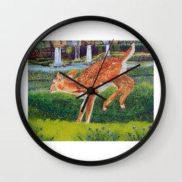 Deer in our Holler Wall Clock