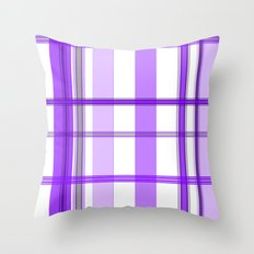 Shades of Purple and White Throw Pillow