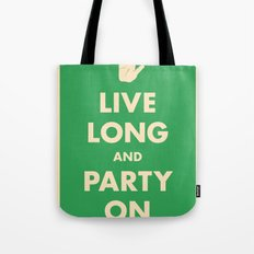 live Long and Party On (Green) Tote Bag
