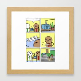 Antics #344 - the downside of science Framed Art Print