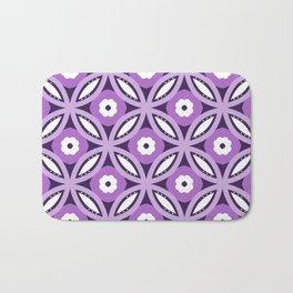 Purple geometric elegant abstract pattern Bath Mat