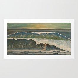 Surfer girl 1 Art Print
