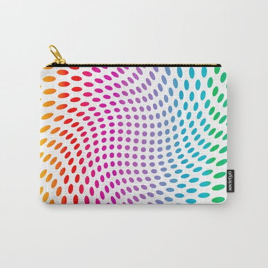 Approaching and receding shapes in CMYK - Optical game 17 Carry-All Pouch