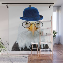 Funny Eagle Portrait Wall Mural