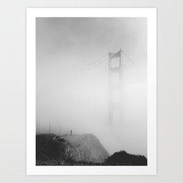 Man vs. Fog Art Print