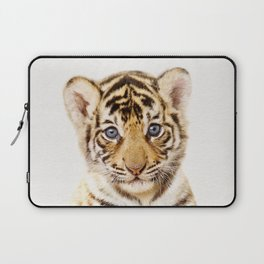 Baby Tiger, Baby Animals Art Print By Synplus Laptop Sleeve