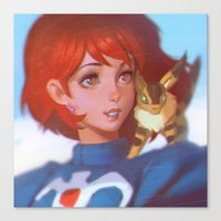 nausicaa Canvas Prints featuring Nausicaa by Ilya Kuvshinov