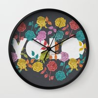 bjork Wall Clocks featuring //  YOU ONLY LIVE ONCE  by Bianca Green