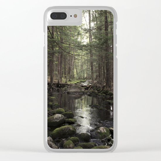 Mossy Brook Clear iPhone Case