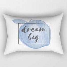 Dream Big Watercolor Apple Rectangular Pillow