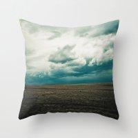 montana Throw Pillows featuring Montana Sky by Emerald Shatto