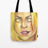 bad wolf Tote Bags featuring Bad Wolf by JenHoney