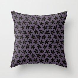 Vampire bats pattern Throw Pillow