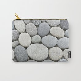 Grey Beige Smooth Pebble Collection Carry-All Pouch