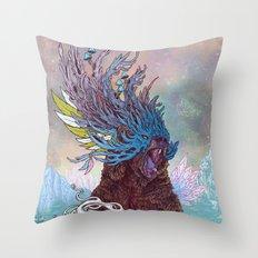 Journeying Spirit (Bear) Throw Pillow