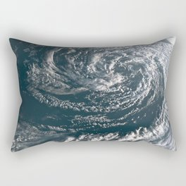 Hurricane on Earth viewed from space. Typhoon over planet Earth. Rectangular Pillow