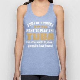 Tuba Player Voices In My Head  Unisex Tank Top