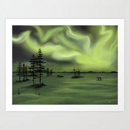 Aurora Fox Art Print