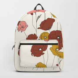 Colorful Poppy Flowers Backpack