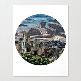 Seattle in the Spring Canvas Print